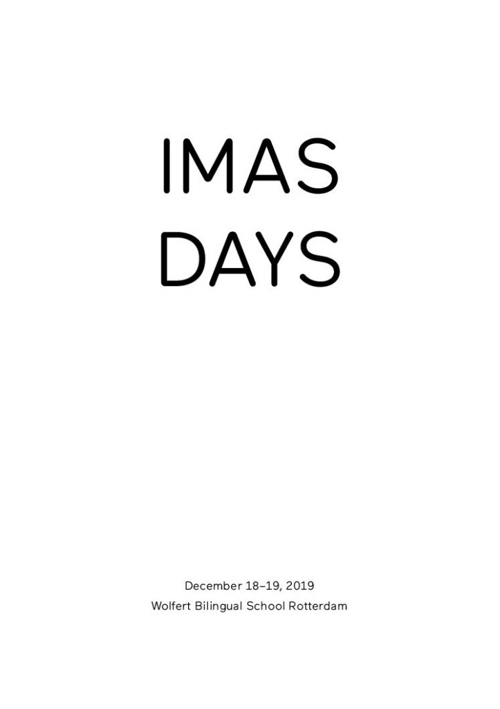ethics community - IMAS days booklet